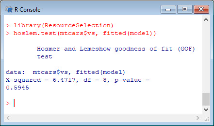 Quick start with R: Generalised Linear Model on binary data